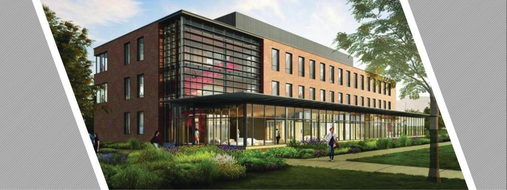Architectural rendering of the new Wooster campus science building